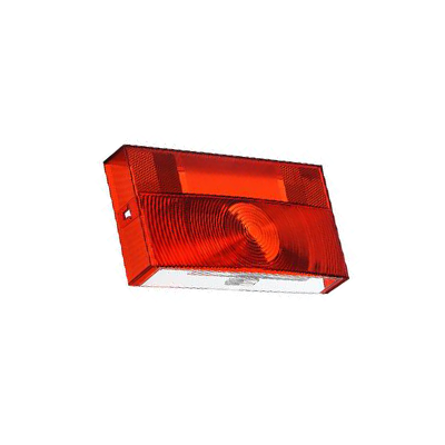 Tail Light Lens - Peterson V25913 Lens With Square Corners/License Plate Light - Red