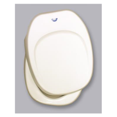 RV Toilet Seat - Thetford - Aqua-Magic IV - Includes Cover - Parchment