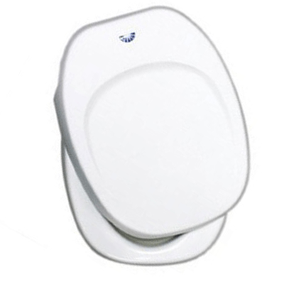 RV Toilet Seat - Thetford - Aqua-Magic IV - Includes Cover - White
