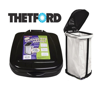 "Trash Cans - Thetford StorMate Collapsible Garbage Bag Holder 14.5"" x 11.5"" Black"