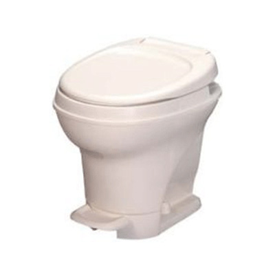 RV Toilet - Thetford Aqua-Magic V High Profile Foot Pedal Flush Toilet - Parchment