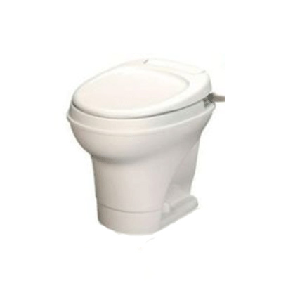 RV Toilet - Thetford Aqua-Magic V High Profile Hand Flush Toilet - Parchment