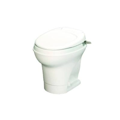 RV Toilet - Thetford Aqua-Magic V High Profie Hand Flush Toilet - White