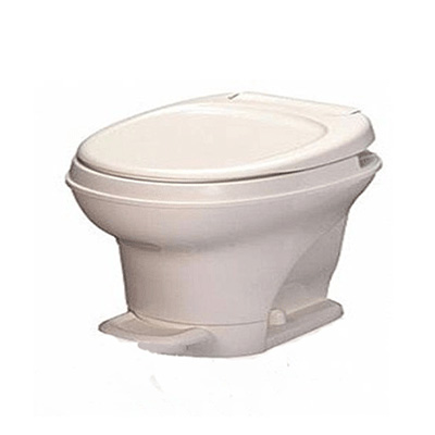 RV Toilet - Thetford Aqua-Magic V Low Profile Foot Pedal Flush Toilet - Parchment