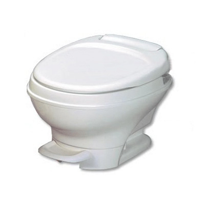 RV Toilet - Thetford Aqua-Magic V Low Profile Foot Pedal Flush Toilet - White