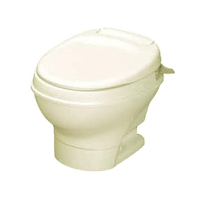 RV Toilet - Thetford Aqua-Magic V Low Profile Hand Flush Toilet - Parchment