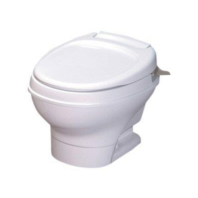 RV Toilet - Thetford Aqua-Magic V Low Profile Hand Flush Toilet - White