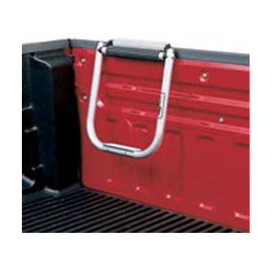 Tailgate Step - Topline Manufacturing Tubular Aluminum Tailgate Step - Silver