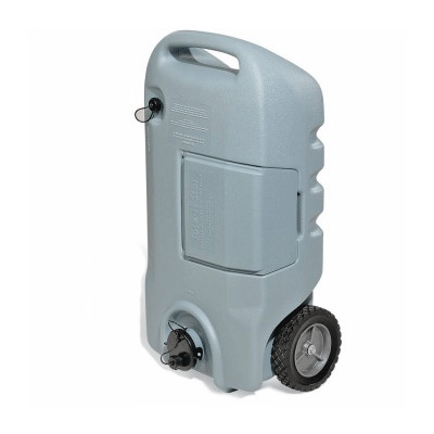 Portable Waste Tanks - Tote-N-Stor 15G Tank With 2 Wheels And Tow Handle