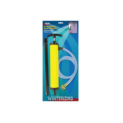 Winterizing Accessories - Valterra Antifreeze Hand Pump With Connecting Hose - Yellow