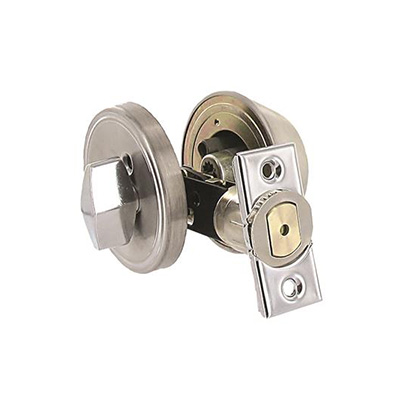 RV Deadbolt Door Lock - Valterra - Entrance - Single Cylinder - Stainless Steel