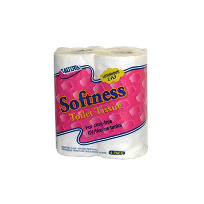 Toilet Paper - Valterra Softness Clogg-Free 2-Ply Toilet Paper - 4 Roll Pack