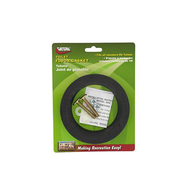 Toilet Floor Seal - Valterra Universal-Fit Rubber Toilet Floor Seal With Mounting Bolts