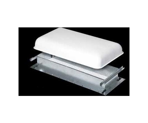 Refrigerator Roof Vent - Ventline Large Metal Refrigerator Roof Vent Base - Silver
