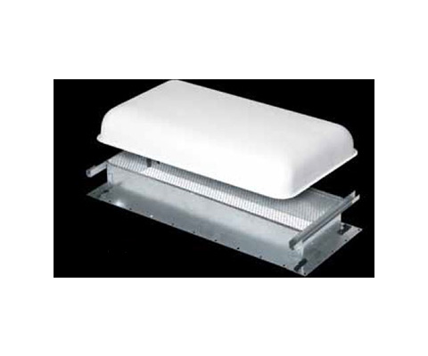 Refrigerator Roof Vent - Ventline Small Metal Refrigerator Roof Vent Base - Silver