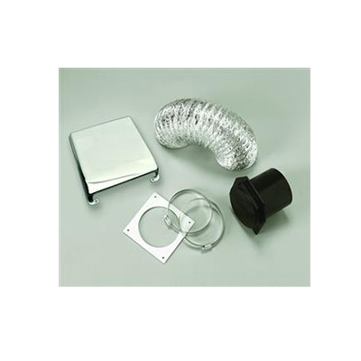Dryer Vent - Splendide Dryer Vent Kit With Flexible Duct Pipe & Cover - Chrome