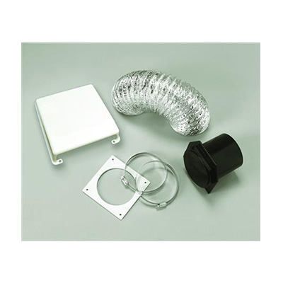 Dryer Vent - Splendide Dryer Vent Kit With Flexible Duct Pipe & Cover - White