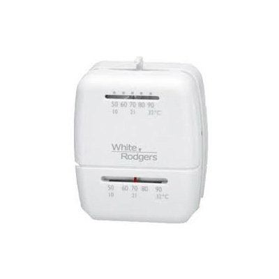 RV Furnace Thermostat - White Rogers Manual Control Heat Only Thermostat - White