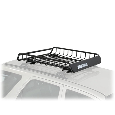 Roof Rack Cargo Basket - Load Warrior Universal-Fit Rooftop Cargo Basket Black