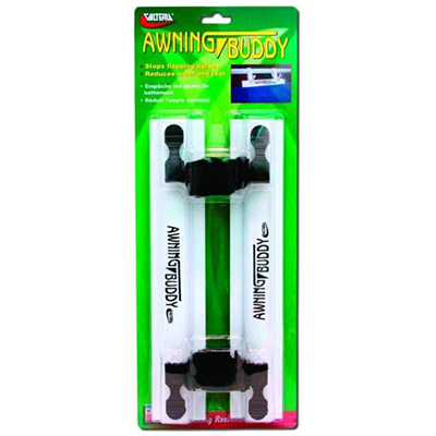 Awning Buddy Clamps - Valterra - Stops Awning Flutter - 2 Per Pack - White