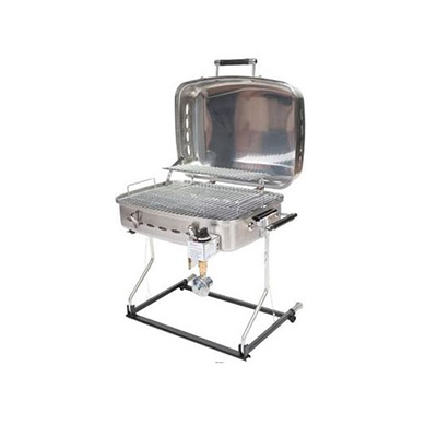 Barbecues - Faulkner Propane Grill With Stand Alone/RV Mount - Stainless Steel