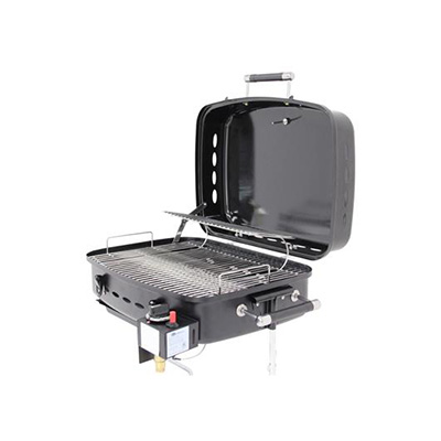 Barbecues - Flame King Propane Grill With Stand And RV Mount - Black