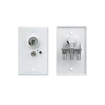 Power Supply Receptacle - Winegard 12V Power Supply Receptacle Wall Plate
