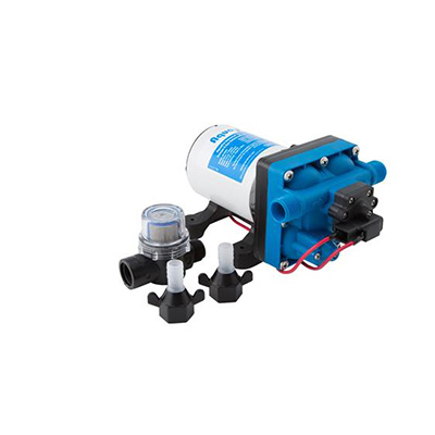 Water Pumps - Aqua Pro 12V Fresh Water Pump With Strainer And Connection Fittings 3 GPM