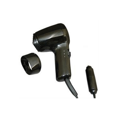Hair Dryer - Prime Products - 12V - Folding Handle - Black