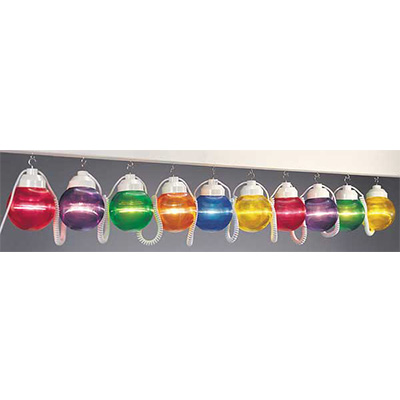 String Lights - Polymer Products 120V String Lights With 10 Shatterproof Multicolour Globes