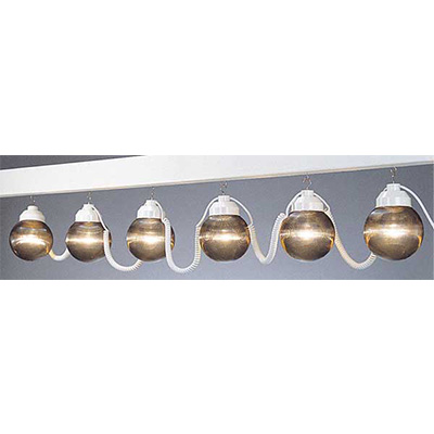 Patio Lights - Polymer Products 120V String Lights With 6 Shatterproof Globes - Bronze