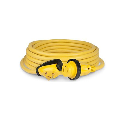 Power Cord - ParkPower Power Plus Cordset - LED Light And Locking Ring - 30A - 25'L