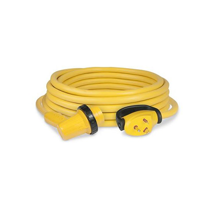 Power Cord - ParkPower RV Cordset With Right Angle Connection & Lock Ring 30A - 30'L