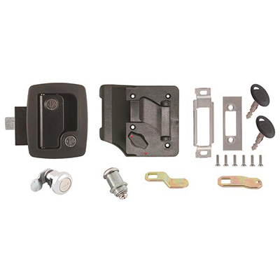 RV Door Latch - AP Products RV Door Latch Kit Keyed-A-Like Black