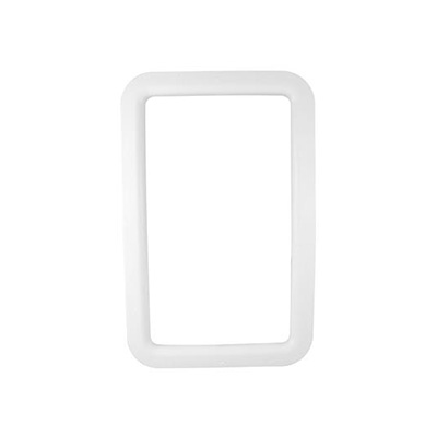 RV Entrance Door Window Frame - Valterra Exterior Side Plastic Window Frame - White