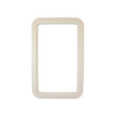 RV Entrance Door Window Frame - Valterra Exterior Side Plastic Window Frame - Ivory