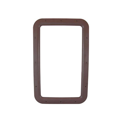 RV Entrance Door Window Frame - Valterra Interior Side Plastic Window Frame - Brown