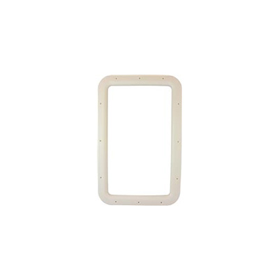 RV Entrance Door Window Frame - Valterra Interior Side Plastic Window Frame - Ivory