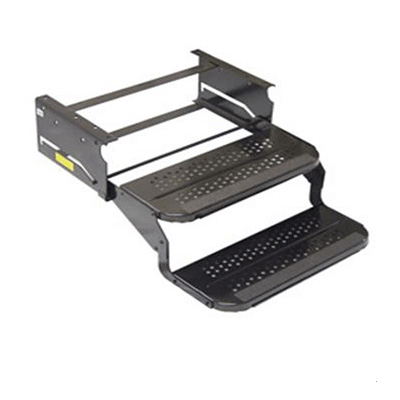 "RV Steps - Elkhart Tool And Die 2 Tread Standard Nose Step - 20""W x 7"" Rise - Black"