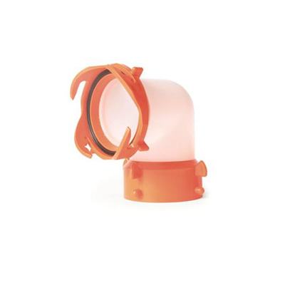 Sewer Hose Accessories - RhinoFLEX 90 Degree Semi-Translucent Elbow Fitting