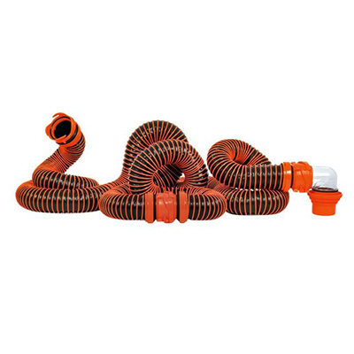 Sewer Hose - RhinoEXTREME Sewer Hose Kit With Swivel Fittings & Adapters 20'L