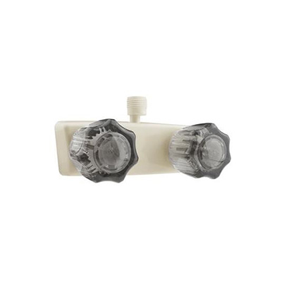 Shower Faucets - Dura Faucet Includes Vacuum Breaker - Parchment Base & Smoke Knobs