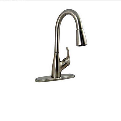 Sink Faucets - Valterra Kitchen Sink Faucet Includes Side Lever & Sprayer - Brushed Nickel