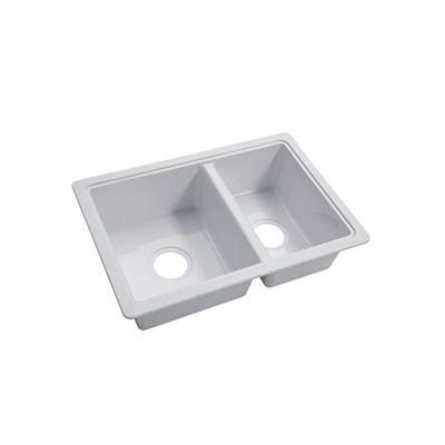 Kitchen Sink - Lippert Components ABS Double Bowl Kitchen Sink 24-5/8