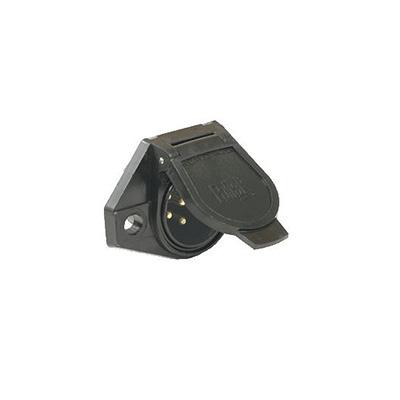 Trailer Lights Plug - Pollak 7-Way Plastic Vehicle Plug Black