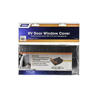 Window Cover - Camco Thermal Reflective Window Door Cover - 16.25